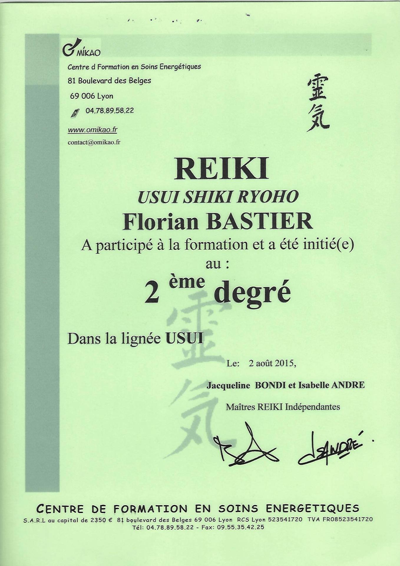 Reiki 2ème degré