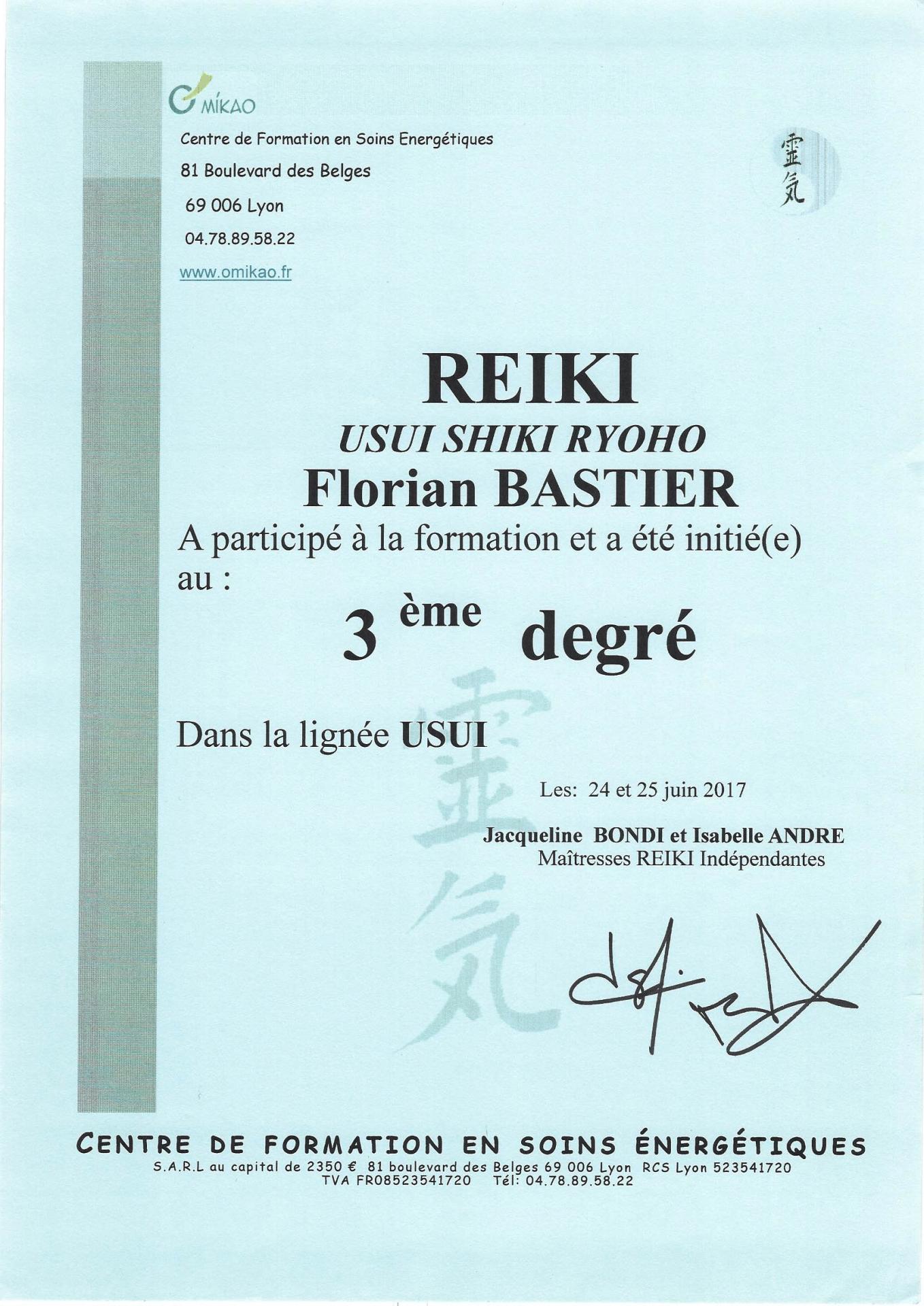 Reiki 3ème degré